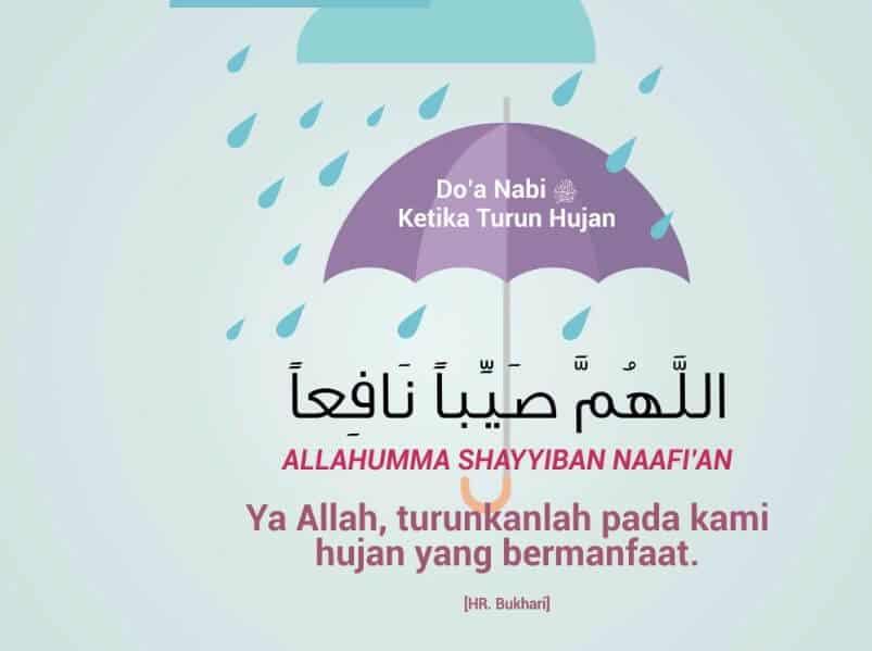 Do'a Ketika Turun Hujan